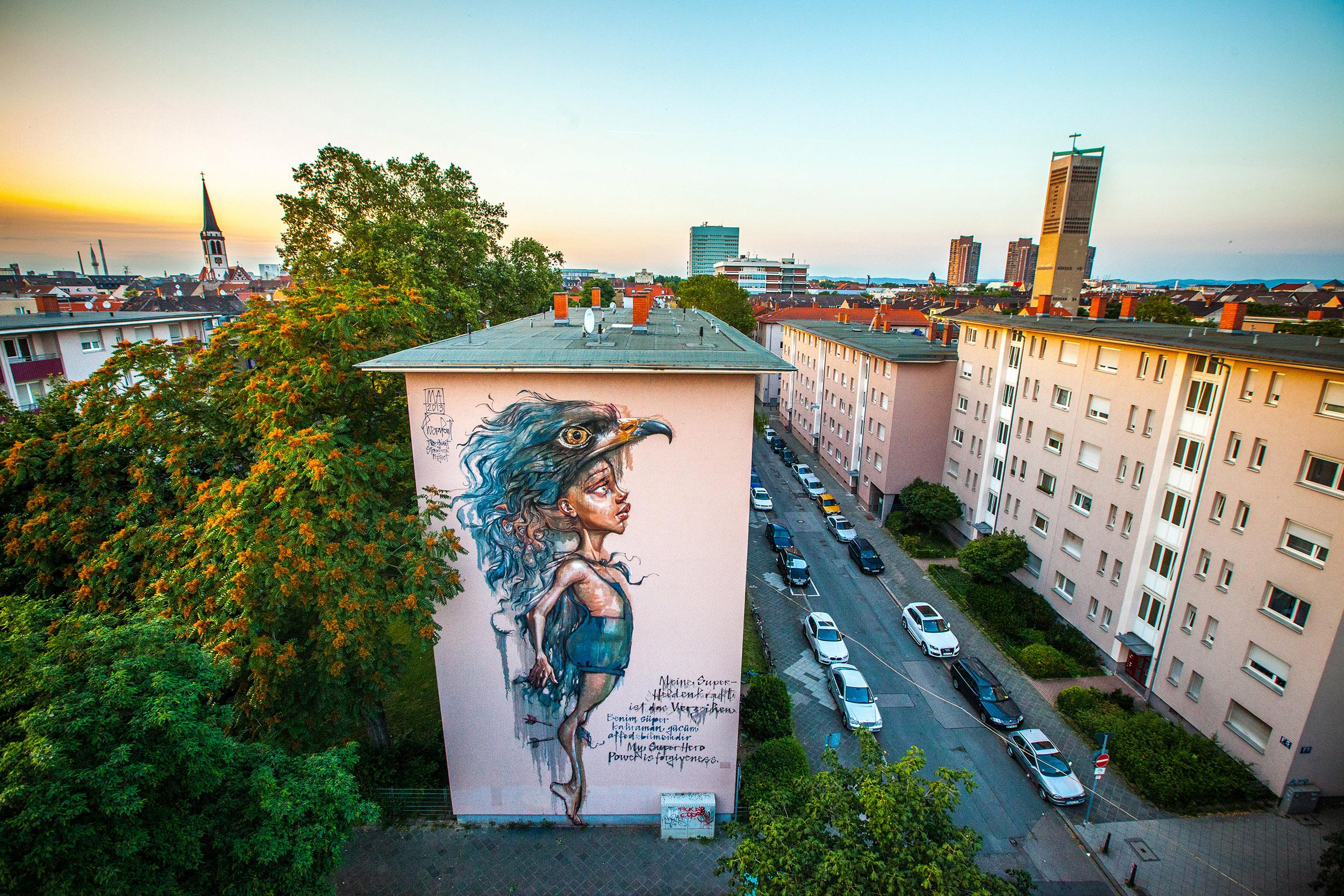 Herakut stadt wand kunst stadt wand kunst for Grafikdesign studium frankfurt
