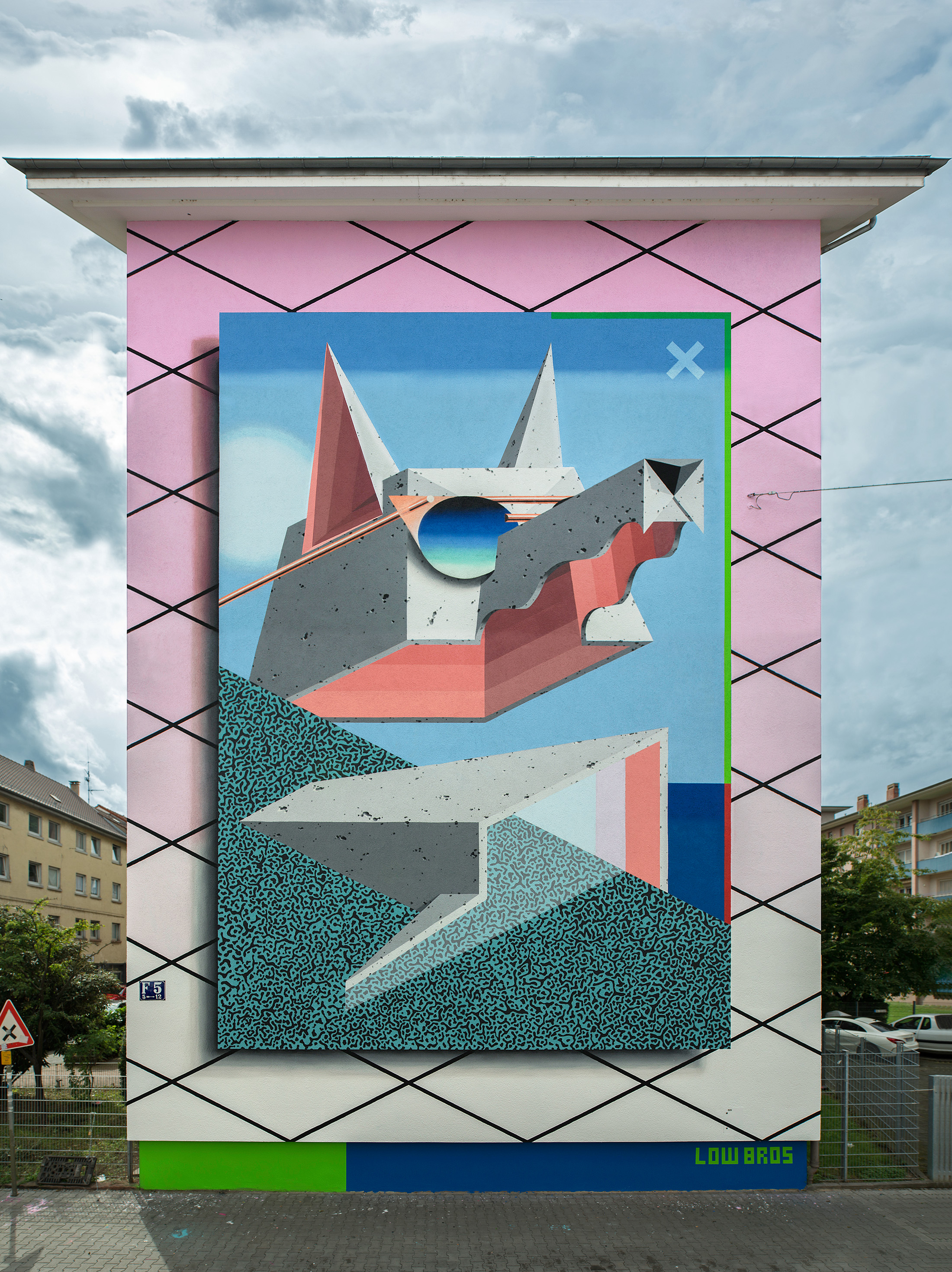 "Neues LOW BROS Mural in Mannheim ""New Wave"""