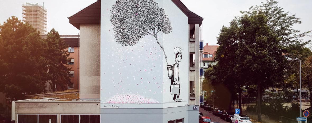 Die Entstehung des Mural von SOURATI für Stadt.Wand.Kunst