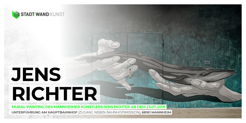 Mannheimer Künstler JENS RICHTER für Stadt.Wand.Kunst