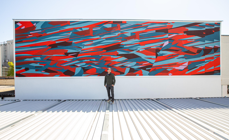 Das fertige Kera Mural für Stadt.Wand.Kunst 2021