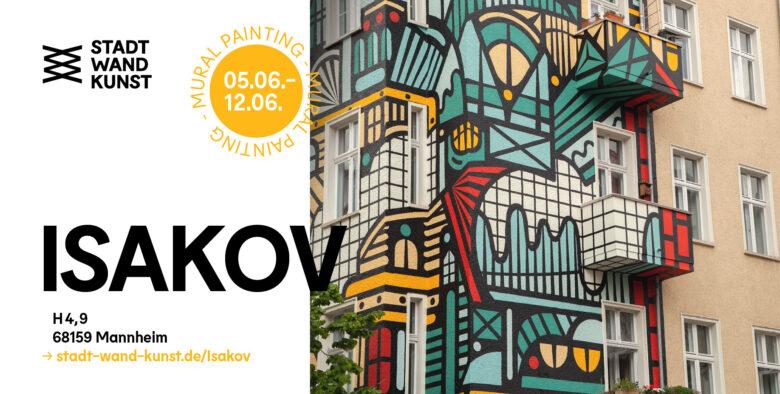 ISAKOV für Stadt.Wand.Kunst im Juni 2021