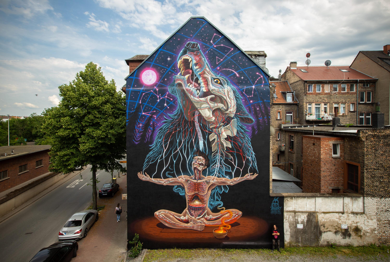 "Das fertige NYCHOS Mural ""PRIMAL STATE"""